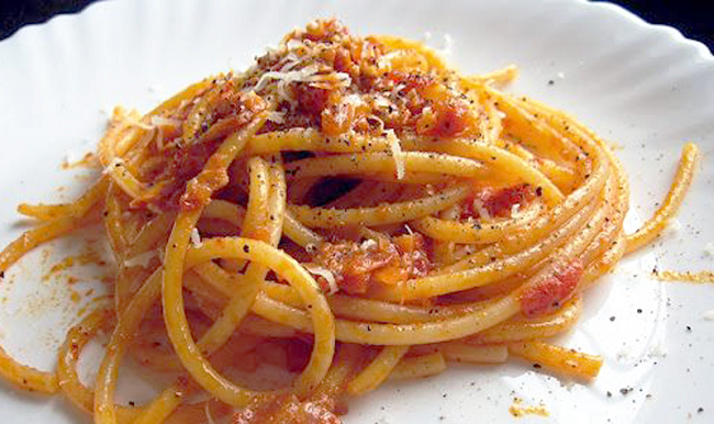 dishmaps roman style negroni roman style spaghetti spaghetti alla ...