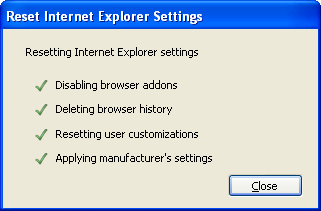 Validate changes Internet Explorer