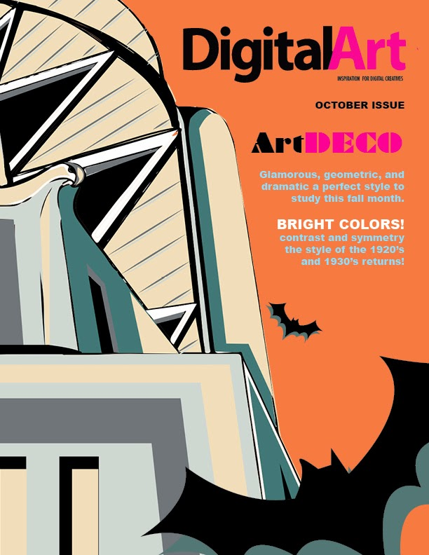 Art Deco Magazine Cover Karla 39 S Esc Student Art Blog