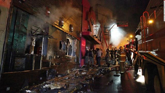 Kebakaran hebat di Kiss Nightclub
