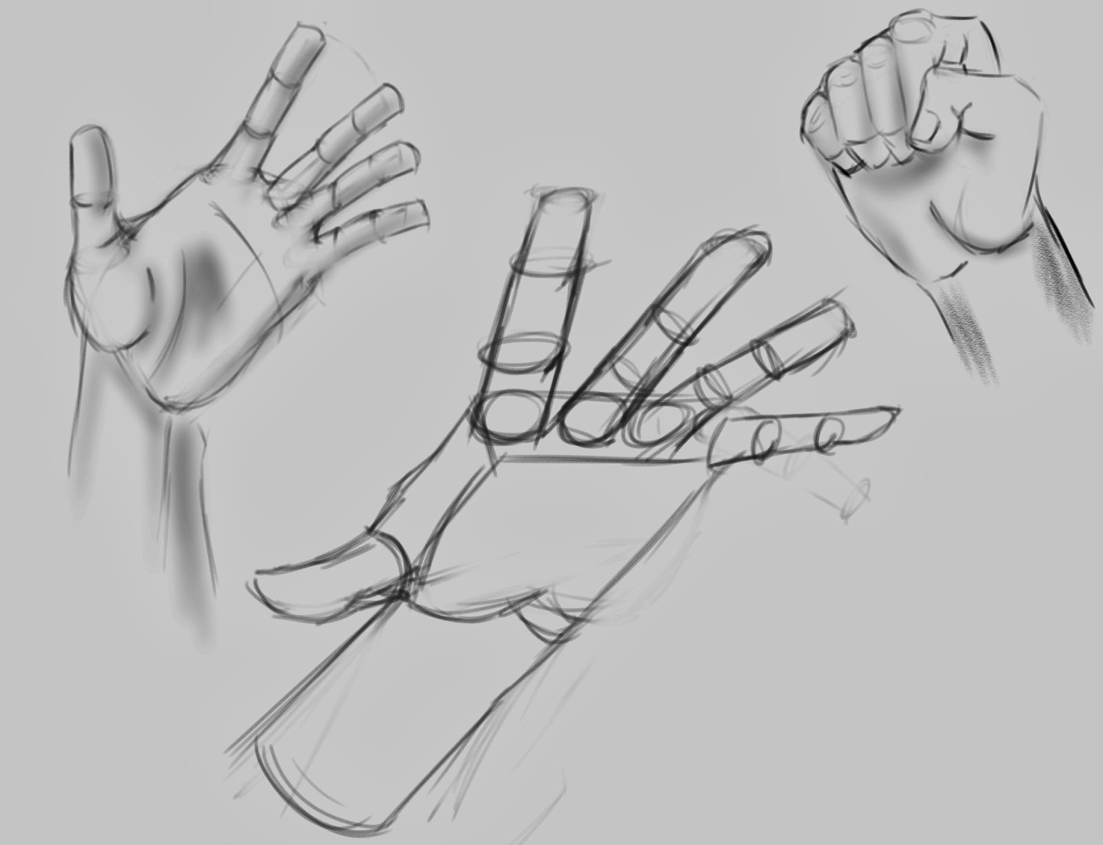 learning to figure draw and paint a few rough hand sketches