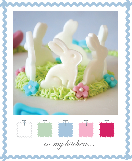 Fondant Bunny &amp; Butterflies by Torie Jayne