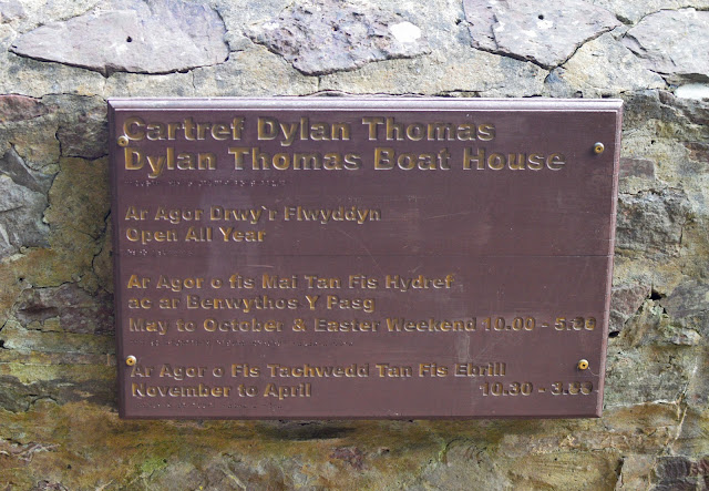Dylan Thomas Boat House sign