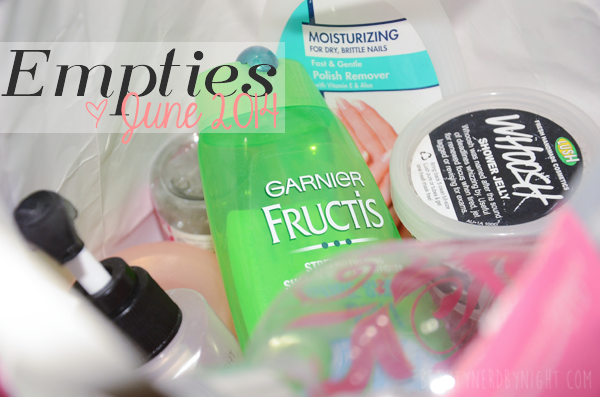 Empties June 2014 | Beauty Nerd By Night