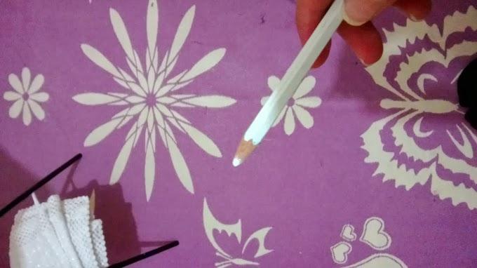 Normal Beyaz Kurşun Kalemden Tırnak kalemi uygulaması