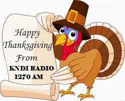 KNDI WISHES EVERYONE A HAPPY THANKSGIVING