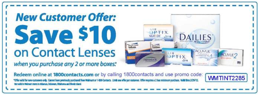 Discount contact lenses coupon
