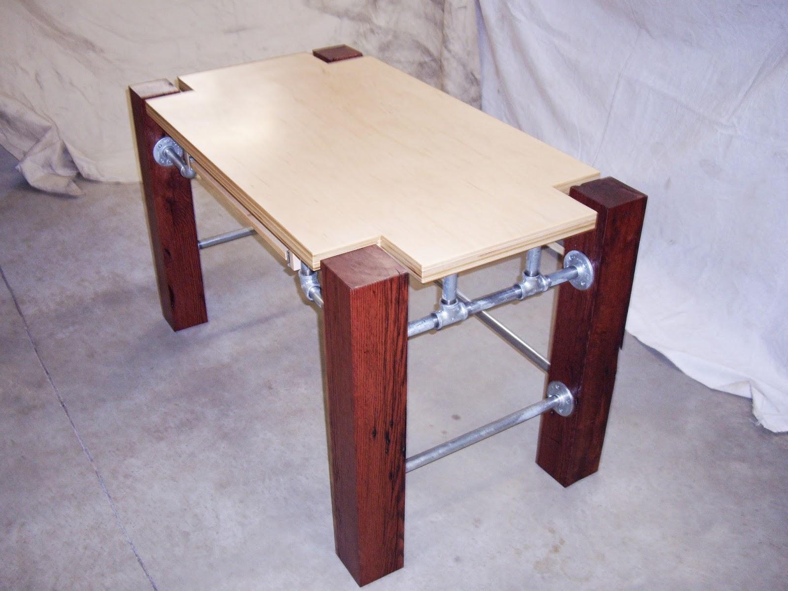 elsewhere computer desk barn beams galvanized pipe maple ply