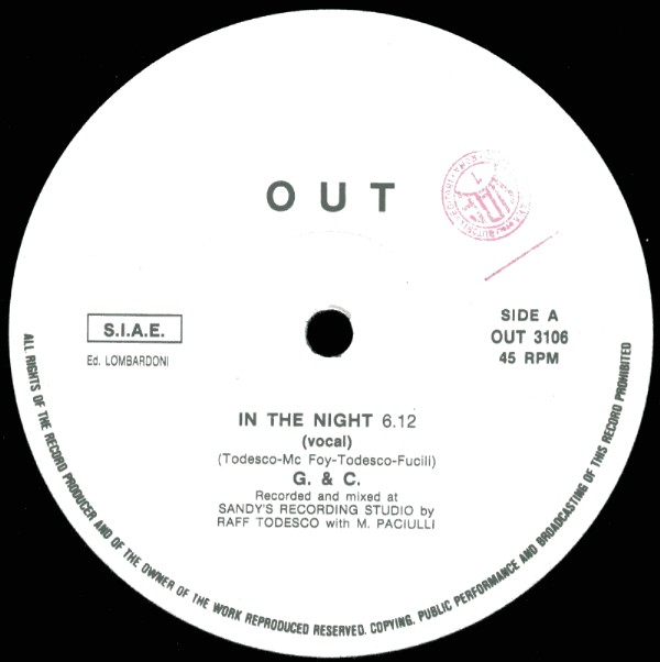 G+C - In The Night (Maxi 87')