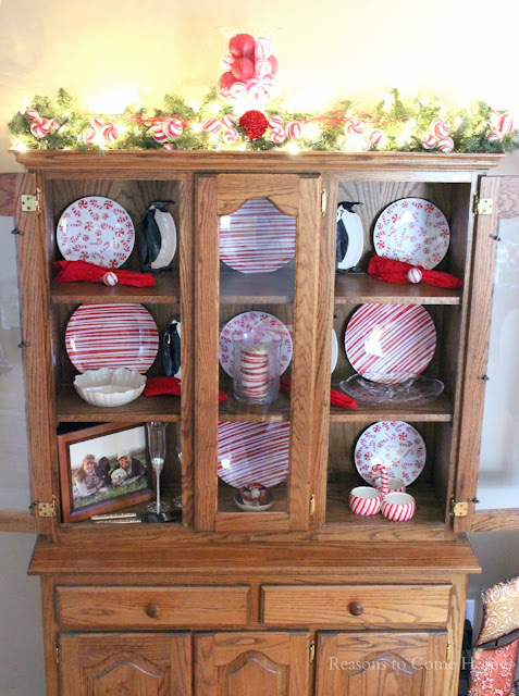 Christmas China Cabinet