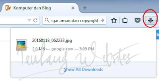 Cara mencari file hasil download