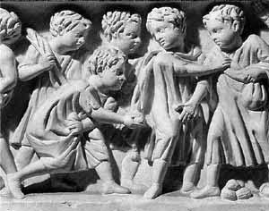 Niños en la antigua Roma