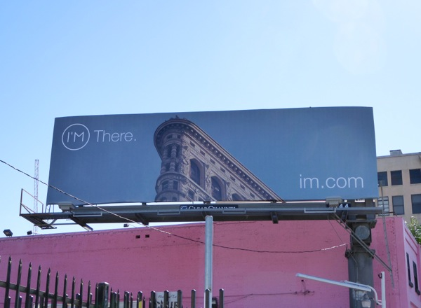 I'm There Flatiron building billboard