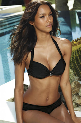Lais Ribeiro look stunning in Next swimwear spring collection