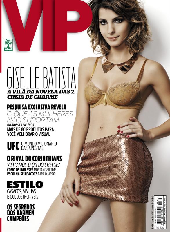 Giselle Batista é capa da edição de agosto da VIP