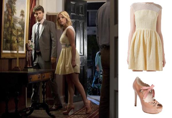 ملابس هانا في pretty little liars hanna+marin+lace+dre