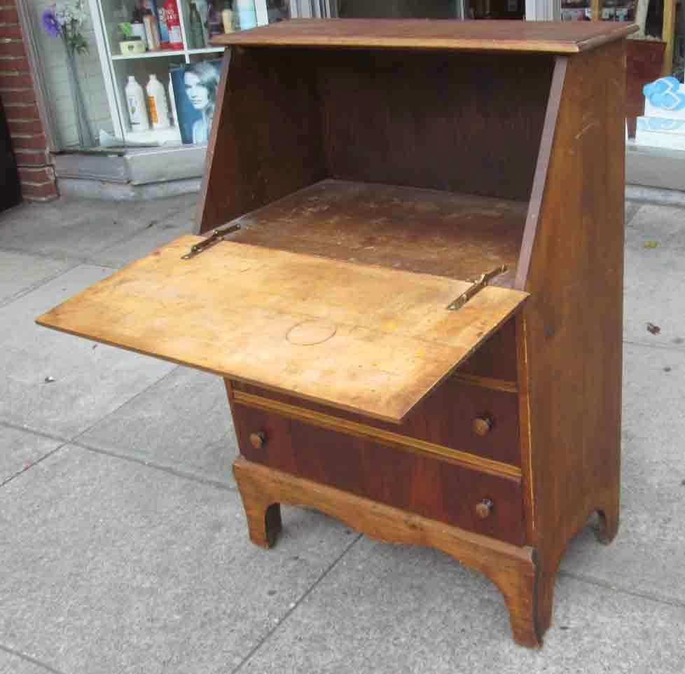 Uhuru Furniture Collectibles Sold Secretary With Walnut