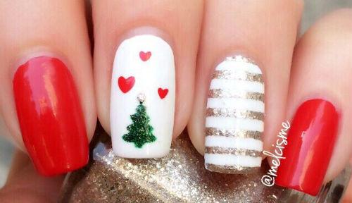decoraciones uñas navidad