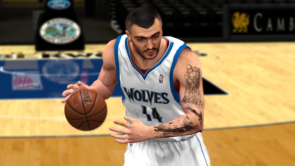 NBA 2K14 Nikola Pekovic Cyberface Mod