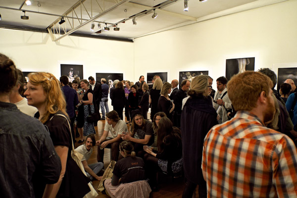The crowded gallery at the opening of Bill Henson '2012' Roslyn Oxley 9 gallery.