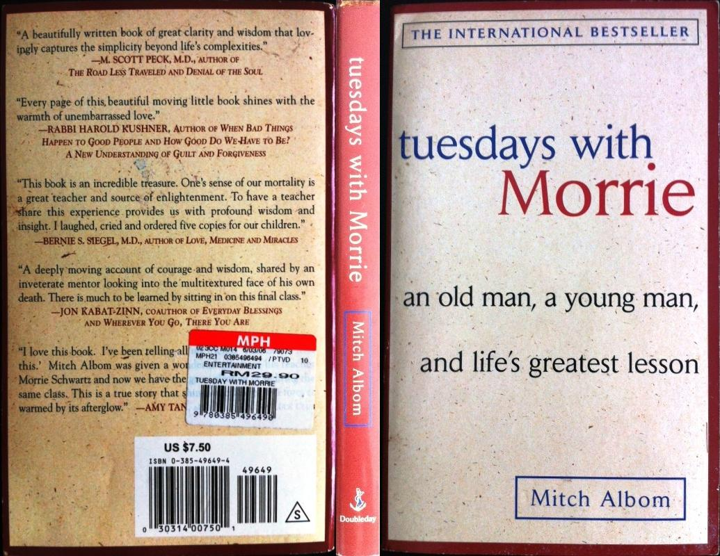 a review of the book tuesdays with morrie Home → sparknotes → literature study guides → tuesdays with morrie tuesdays with morrie mitch albom table of contents 8 books you won't believe were banned.