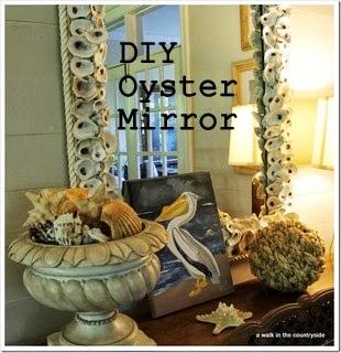 DIY Oyster Mirror