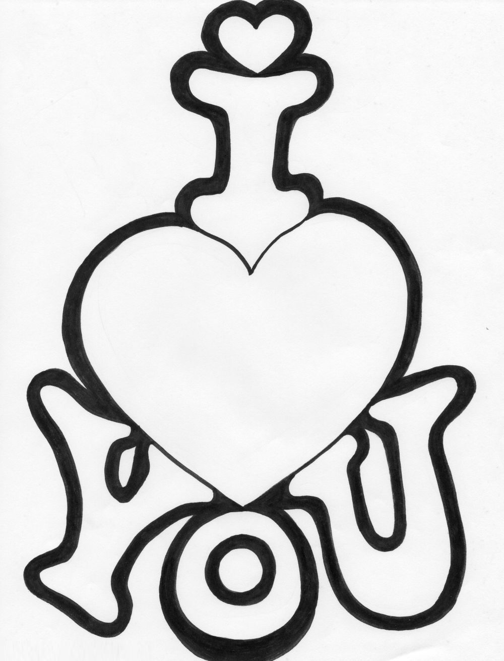 Coloring Pages Love : Quot i love you coloring pages