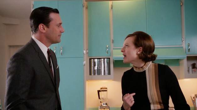 Don Draper Peggy Olson test kitchen argument