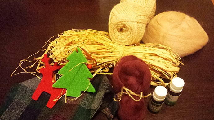 Homemade gift ideas A Guide to Christmas: Hand knitted Scented Decorative Cushions made from wool and essential oils