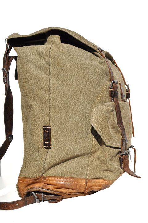 goodbye heart vintage: Swiss Military Backpack with Leather Bottom