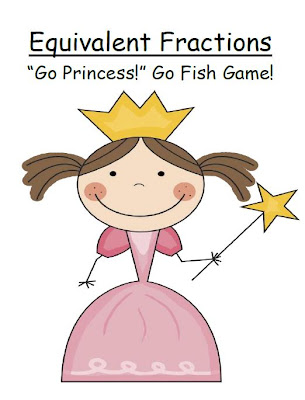 Picture of Fern Smith's GO PRINCESS! Go Fish Card Game focuses on Equivalent Fractions!