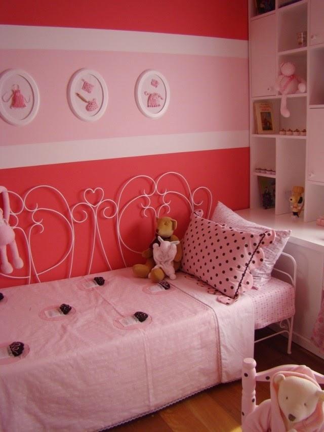 Dormitorios para ni as en rosa dormitorios colores y estilos for Decoracion de cuartos para 2 ninas