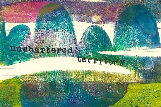 Whoopidooings: Carmen Wing - ICAD Index Card a Day - Gelli Print Landscape