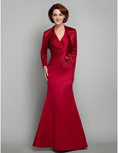 Vestido Madrina Rojo Cuello Criss Cross