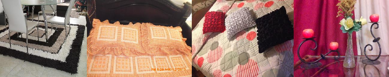Tapetes, tendidos de cama en bordado español, cojines decorativos, forja y mucho más