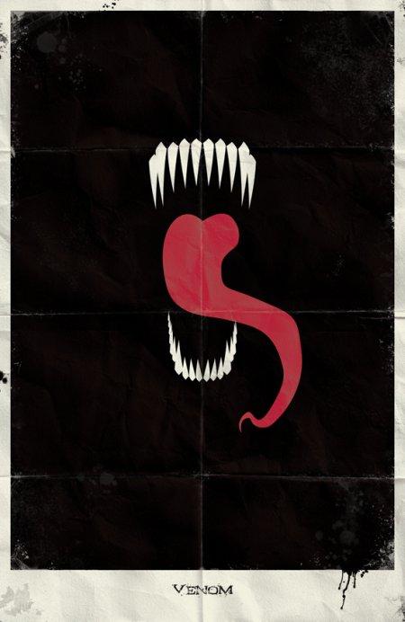 marko manev ilustração poster minimalista super heróis marvel Venom