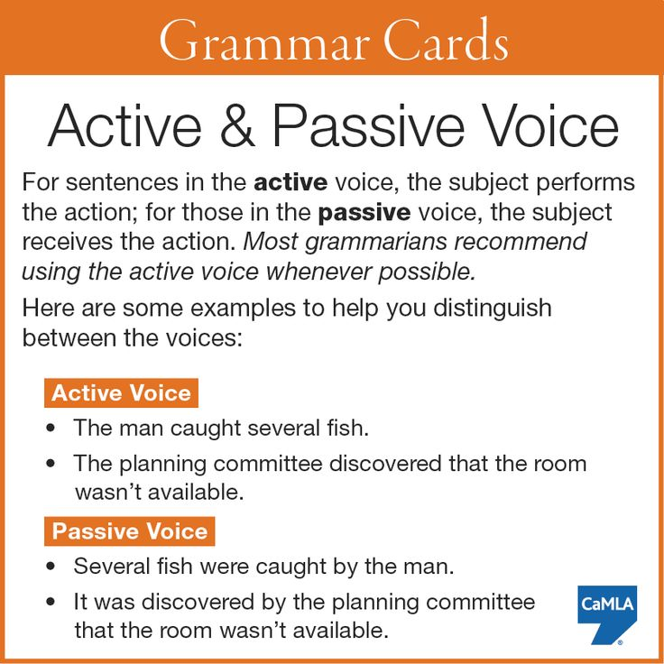 examples active passive voice Active and passive voice there are two main voices in english writing: the active voice and the passive voice you've probably heard a lot about them—and you've probably been warned away from the passive voice.