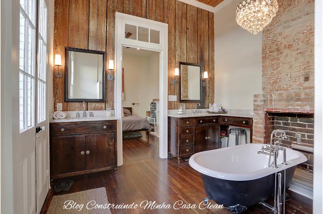 Construindo Minha Casa Clean 30 Banheiras de Imersão FreeStanding ou de Apo -> Banheiro Com Banheira Preta