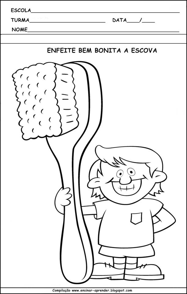 Super Atividades Higiene Corporal - Cuidados com o Corpo - Desenhos Para  TE18