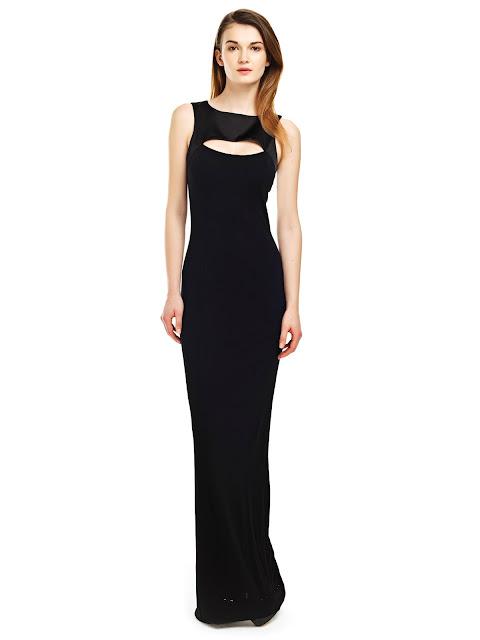 siyah uzun elbise, gece elbisesi, balo elbisesi, kolsuz elbise, dar kesim elbise, siyah abiye, uzun abiye