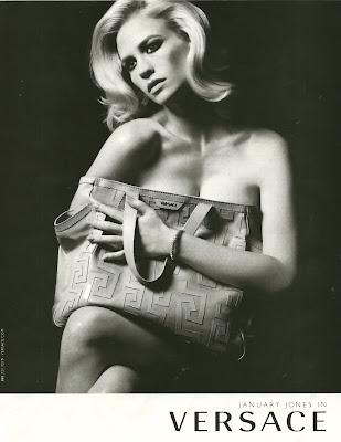 January Jones Versace Ads