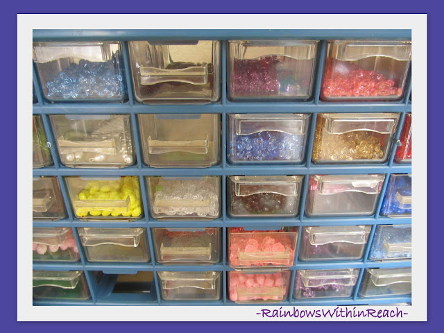 photo of: Drawers to keep beads organized