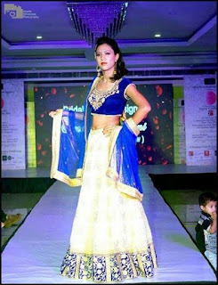 Priyanka Darjee  in ramp show BRIDAL RAAGA