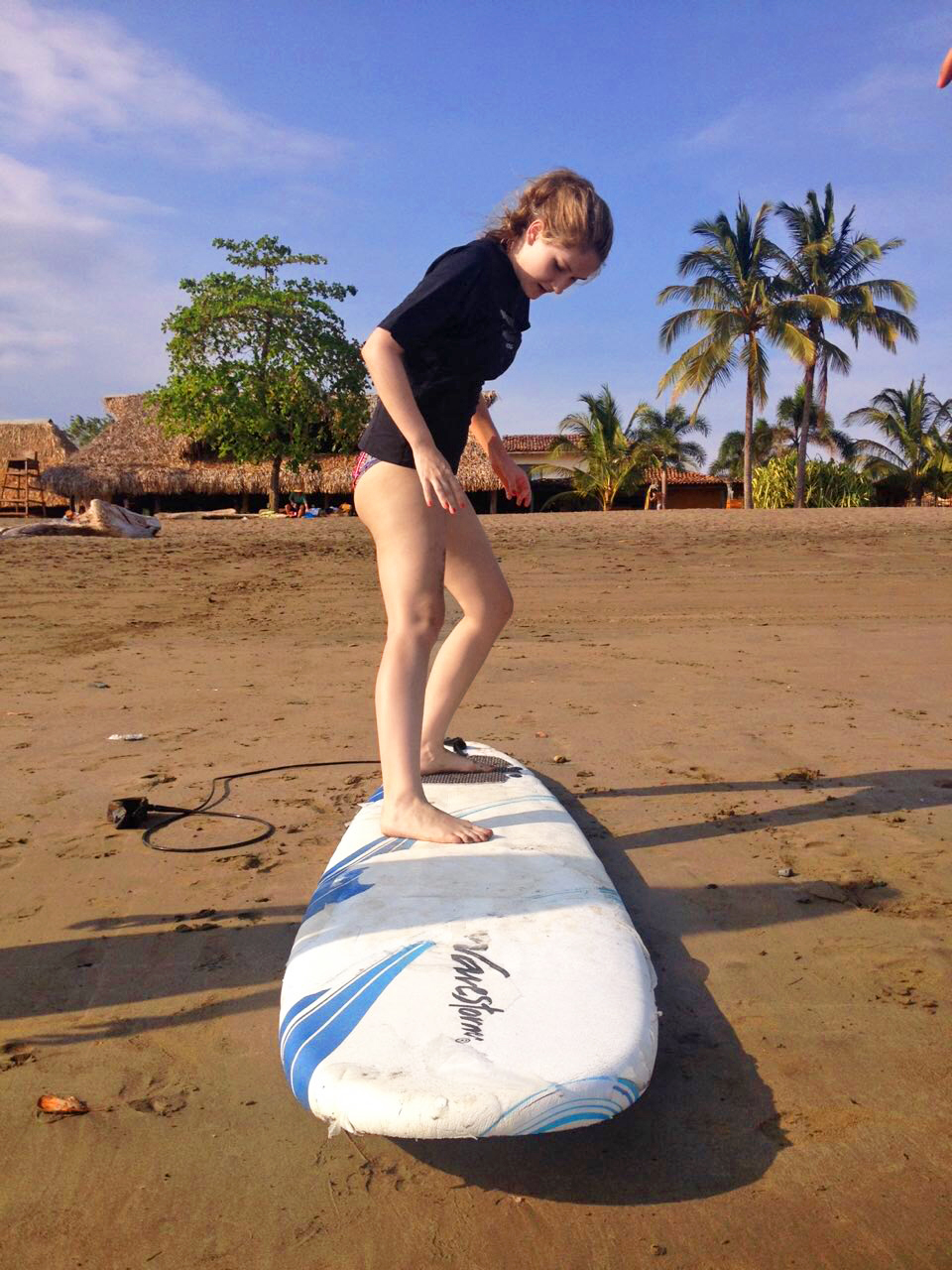 Surfing at Playa Venao