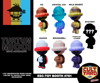 ESC Toy New York Comic-Con 2011 Exclusive Turtum Micci Gang Resin Figures by Erick Scarecrow