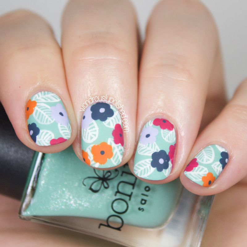 Flower Nail Art: Wondrously Polished: The Digital Dozen Does Floral