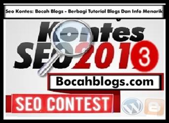Kontes SEO Bocahblogs Dangeltoblog