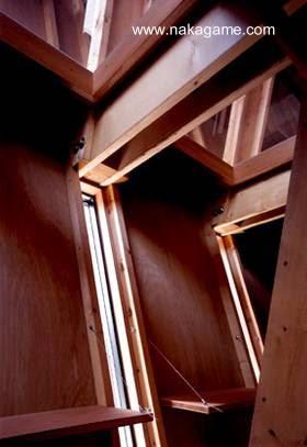 Interior de la residencia de madera