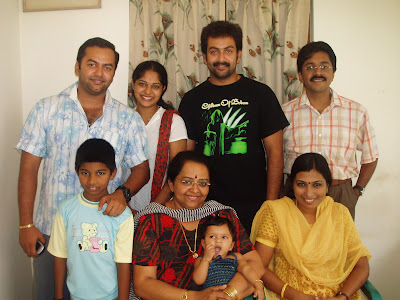 Prithviraj Sukumaran with family