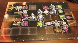 USS Enterprise board in Galaxy Trucker game